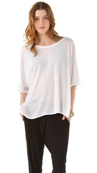 HELMUT Helmut Lang Kinetic Jersey Wide Tee