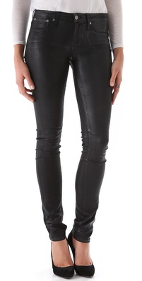 HELMUT Helmut Lang High Gloss Skinny Jeans