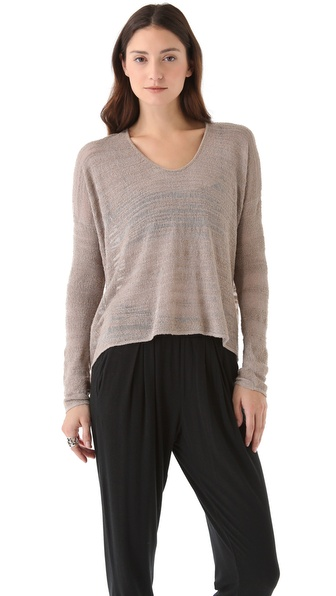 HELMUT Helmut Lang Burnout Boucle Pullover