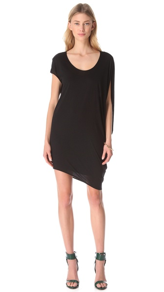 HELMUT Helmut Lang Kinetic Asymmetrical Dress