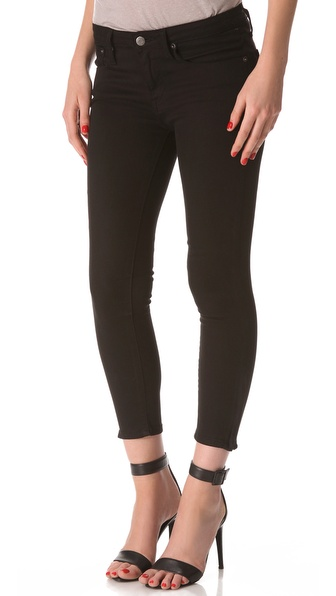 HELMUT Helmut Lang Black Cropped Skinny Jeans