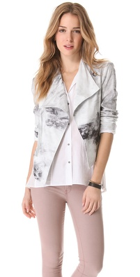 HELMUT Helmut Lang Smudge Print Poplin Jacket