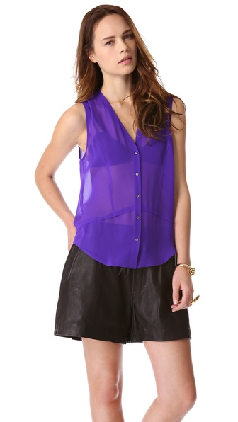HELMUT Helmut Lang Ghost Silk Top
