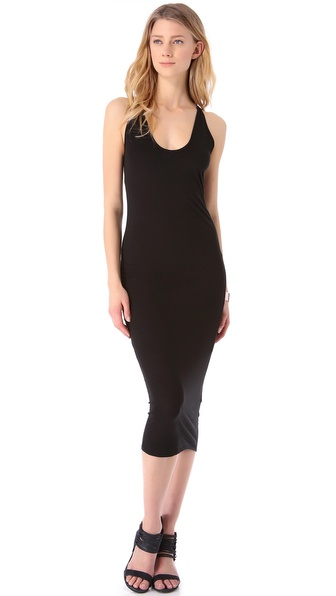 HELMUT Helmut Lang Feather Jersey Tank Dress