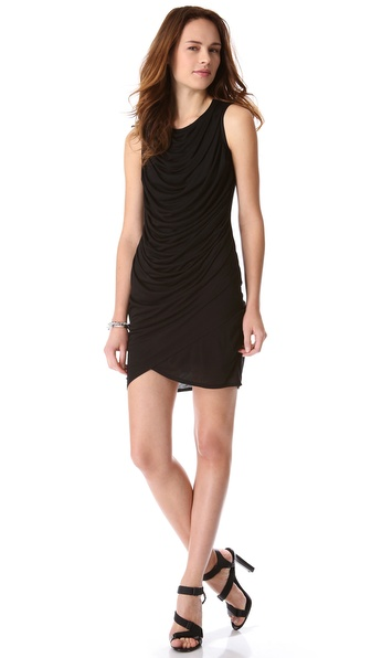 HELMUT Helmut Lang Kinetic Jersey Draped Dress