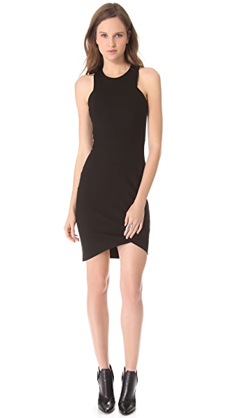 HELMUT Helmut Lang Form Knit Asymmetrical Dress