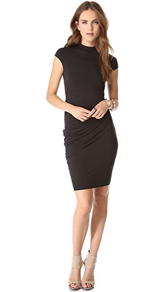 HELMUT Helmut Lang Drop Cap Sleeve Dress