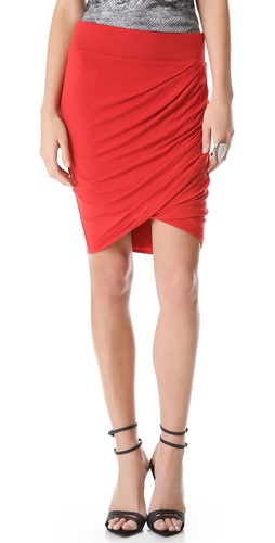 HELMUT Helmut Lang Draped Skirt