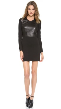 HELMUT Helmut Lang Half Leather Dress