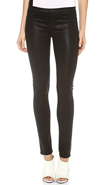 HELMUT Helmut Lang Coated Pull On Legging Jeans