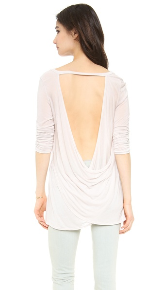 Hepburn Monroe Open Back Long Sleeve Tee