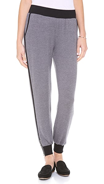 Hepburn Monroe Ponte Sweatpants with Zippers