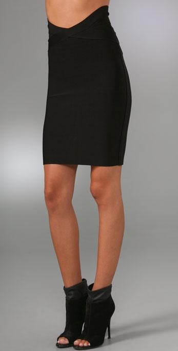 Herve Leger Signature Essentials Above the Knee Skirt