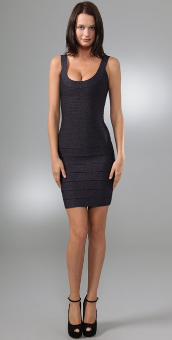 Herve Leger Lurex Essentials City Dress