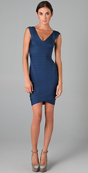 Herve Leger Novelty Essentials Dress