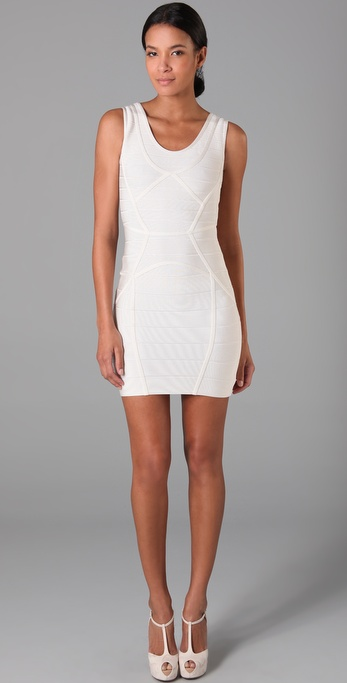 Herve Leger Round Neck Dress