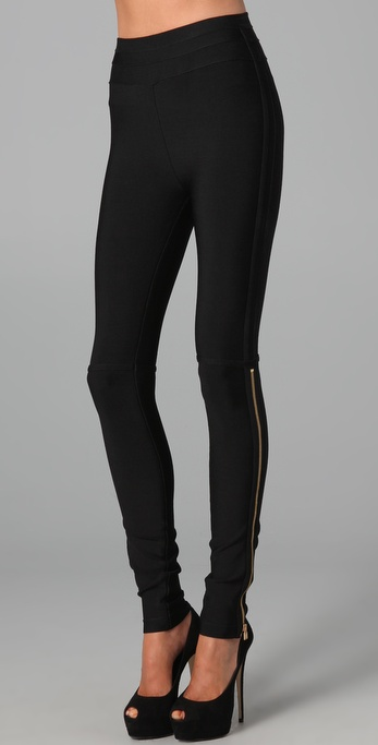 Herve Leger Zip Up Leggings