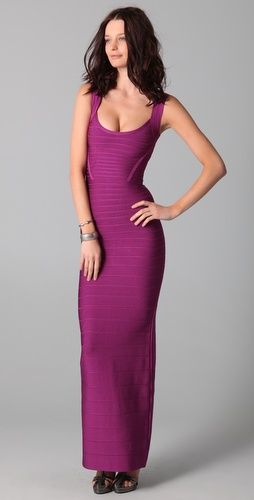 Herve Leger Signature Essentials Gown