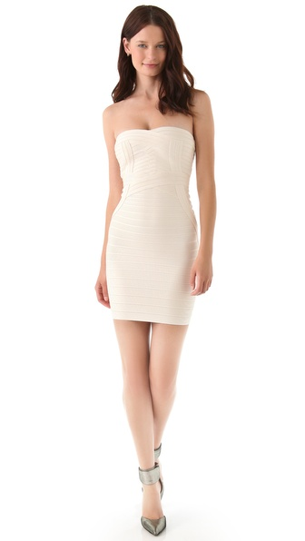Herve Leger Novelty Essentials Strapless Dress