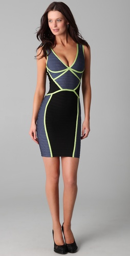Herve Leger Scuba Dress