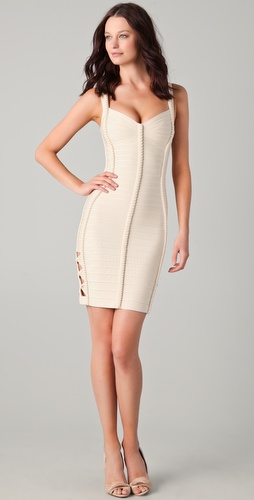 Herve Leger Cutout Dress with Braiding