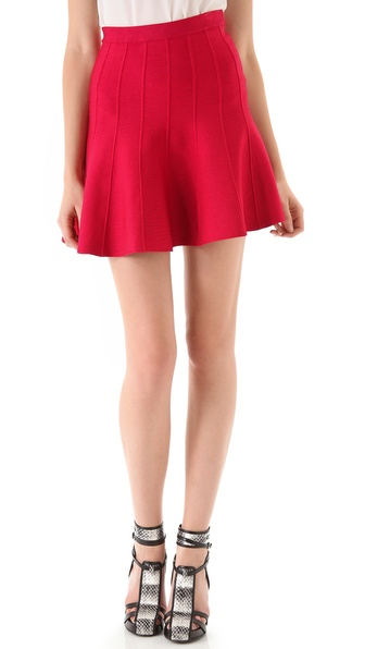 Herve Leger Engineered Tubular Knit Skirt