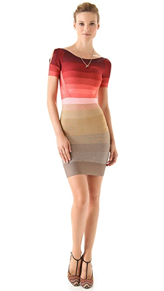 Herve Leger Color Combo Dress