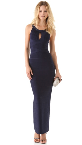 Herve Leger Keyhole Gown