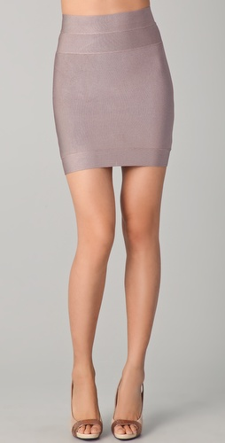 Herve Leger Signature Essentials Bandage Miniskirt