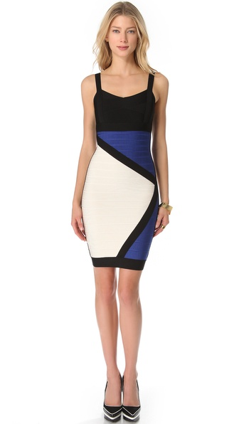 Herve Leger Colorblock Dress