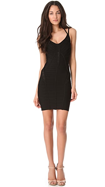 Herve Leger Albizia Slash Panel Dress