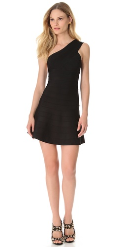 Herve Leger Sydney One Shoulder Dress