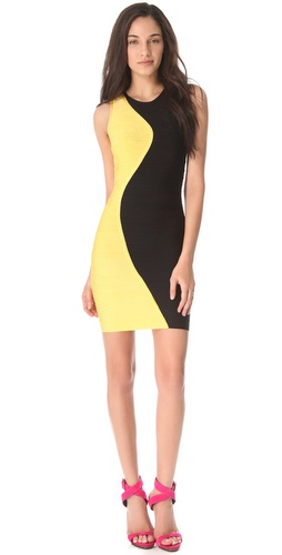 Shop Herve Leger Pailey Combo Dress and Herve Leger online - Apparel,Womens,Dresses,Cocktail,Night_Out, online Store