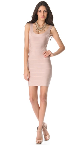 Herve Leger Zeina Sleeveless Dress