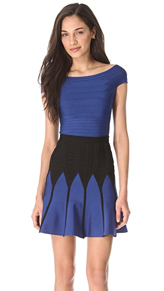 Herve Leger Pamela Off Shoulder Top