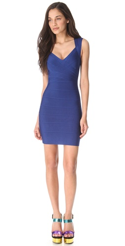 Shop Herve Leger Sarai Sleeveless Dress and Herve Leger online - Apparel,Womens,Dresses,Cocktail,Night_Out, online Store