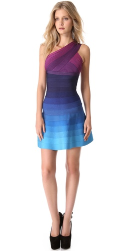 Herve Leger Linden One Shoulder Dress