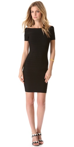Herve Leger Carmen Off Shoulder Dress