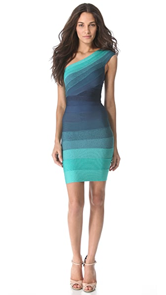 Herve Leger Eliana One Shoulder Dress