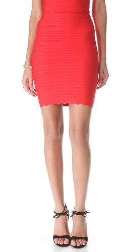 Herve Leger Mid Thigh Skirt