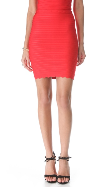 Herve Leger Mid Thigh Skirt