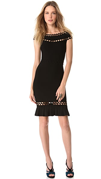 Herve Leger Boat Neck Dress