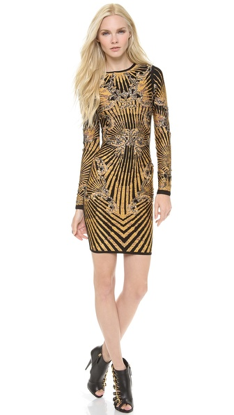 Herve Leger Giana Patterned Dress