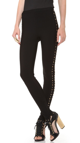 Herve Leger Studded Leggings