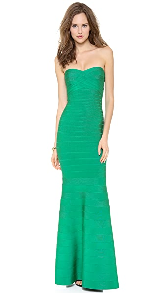 Herve Leger Sara Strapless Dress