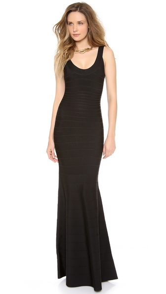 Herve Leger Ellen Sleeveless Maxi Dress