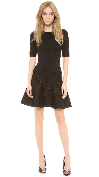 Herve Leger Clara Drop Waist Dress