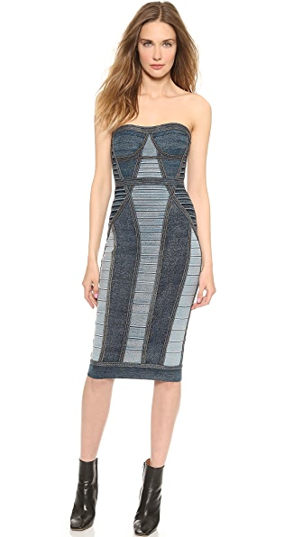 Herve Leger Gwyn Strapless Dress