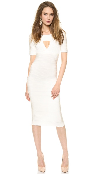 Herve Leger Kristin Keyhole Dress