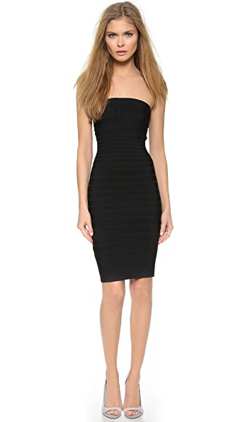 Kupi Herve Leger haljinu online i raspordaja za kupiti Herve Leger Fernanda Strapless Dress Black online